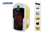 Concord Topaz Finger Clip Oximeter with Red Digital Display