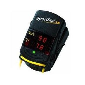 Compact Black & Yellow Nonin SportStat Oximeter with Red Digital Display