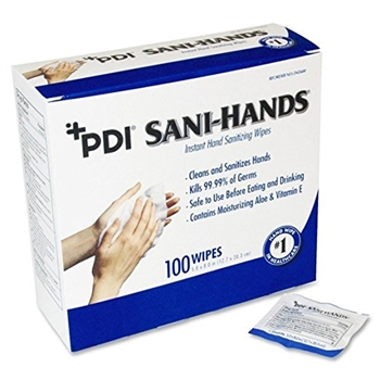 Sani-Hands ALC Wipes 100/box