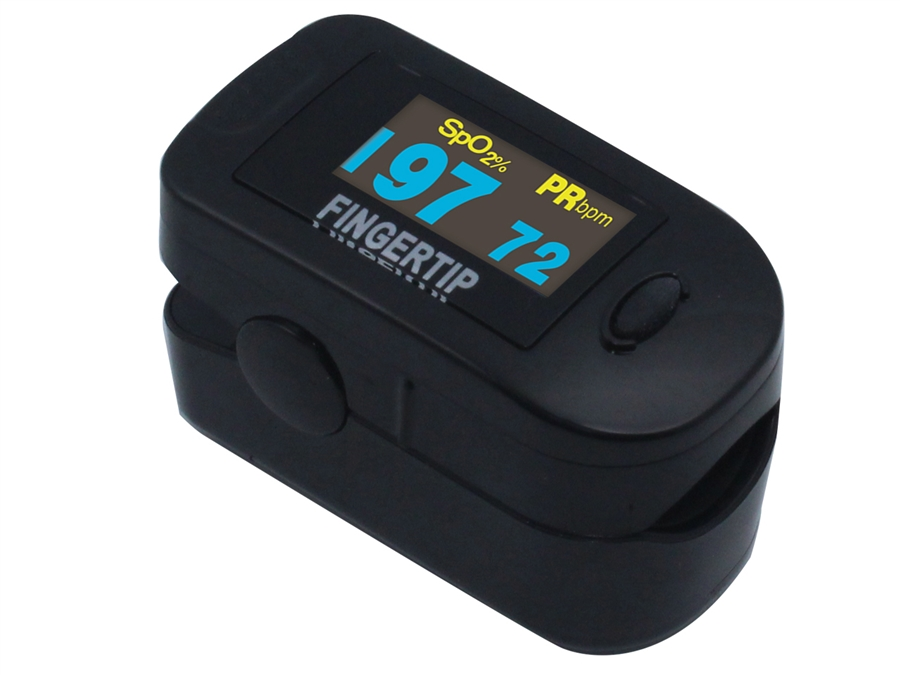 Concord Black Fingertip Pulse Oximeter Deluxe Pediatric