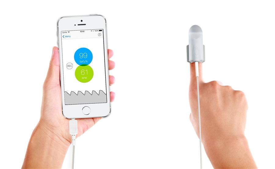 Fingertip Pulse Oximeter for the iPhone - the Kenek Edge