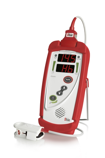 Masimo Pronto for Spot checking hemoglobin (SpHb®), arterial oxygen saturation (SpO2), pulse rate (PR), and perfusion index (PI)