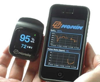 NONIN Connect™ Elite Finger Pulse Oximeter with Bluetooth...