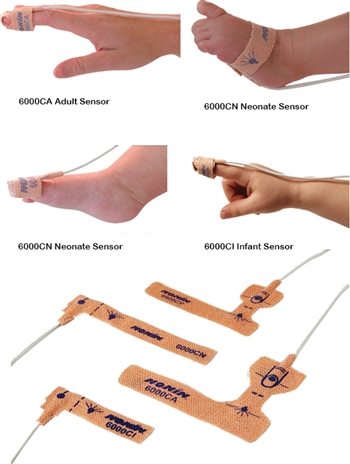 6000 Series Breathable Cloth Disposable Sensors