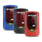 Nonin Onyx Vantage 9590 Pulse Oximeter in Red, Black, Blue & Purple