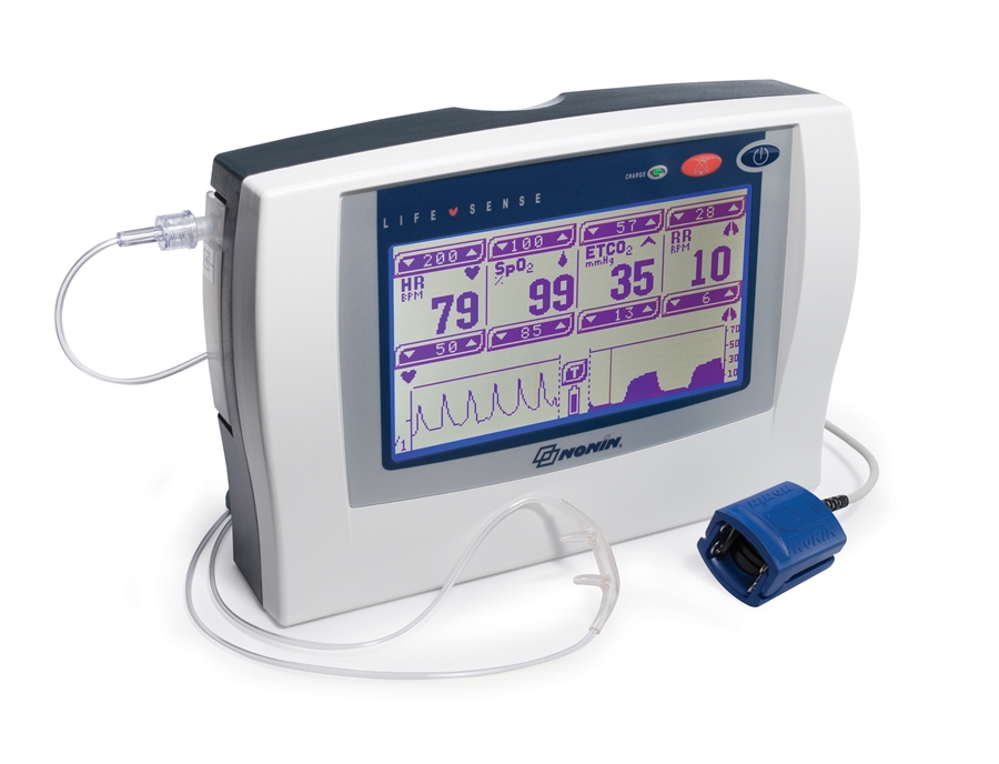 NONIN LifeSense Tabletop Capnography EtCO2 and Pulse Oxim...